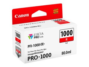 Canon PFI1000 Rojo Cartucho de Tinta Original - PFI1000R/0554C001