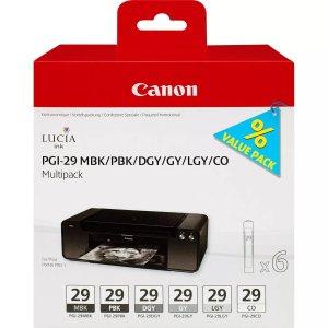 Canon PGI29 Pack de 6 Cartuchos de Tinta Originales - 4868B018