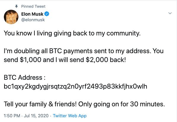 Twitter gehackt.  Bill Gates und Elon Musk wollen Ihr Geld überhaupt nicht