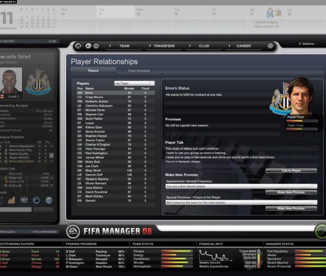 Fifa Manager 08 Pc Games Image 35 50 Bright Future Electronic Arts Inc