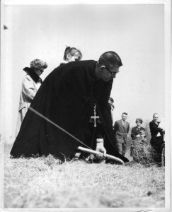 The first shovel at the groundbreaking