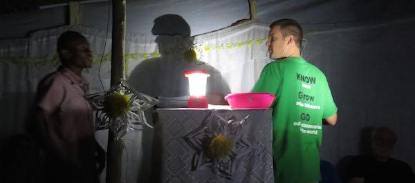 Preaching in Haiti