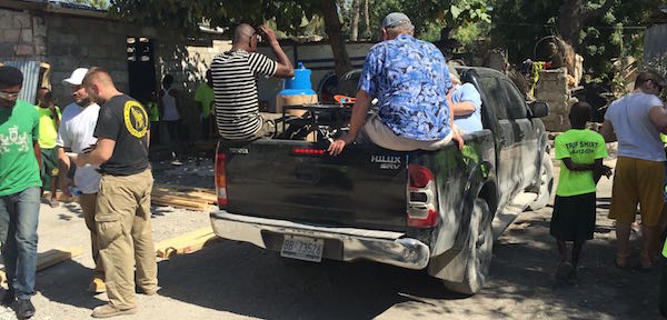 Grill delivered in Haiti