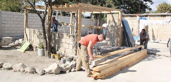Construction work in Haiti