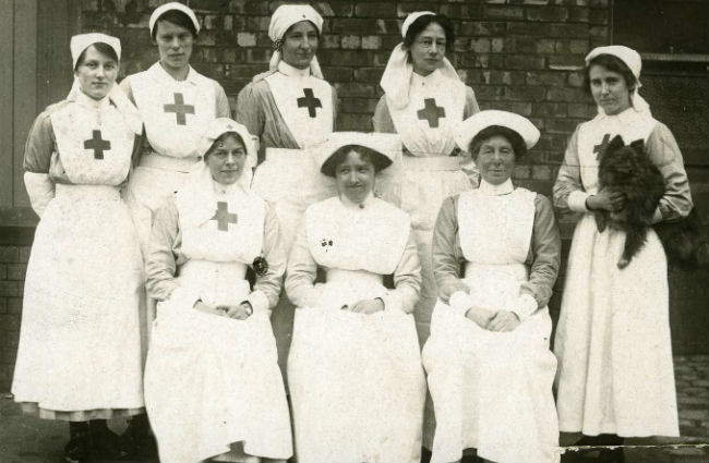 Nurses and VADs. Image courtesy of the British Red Cross
