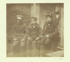 The Duncan Brown Collection - Housebreakers in irons with prison officer (Archive Reference: DB/166)