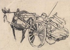 Mule with cart (Archive Reference: NMC/71)