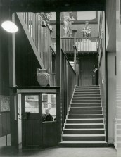 GSA Archives photograph of the main stairs of the Mackintosh Building (Archive reference:GSAA/P/7/122)
