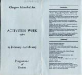 Activities Week Programme 1980, Page 1