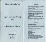 Activities Week Programme 1980, Page 1