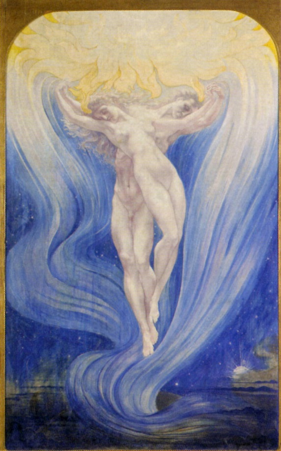 L'Amour des Ames by Jean Delville, image courtesy of The Flower And The Green Leaf, p.60