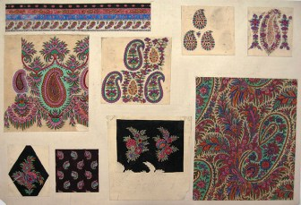 Untitled Paisley Shawl Design, GSA Archives and Collections (archive reference: DC/39/19)