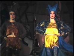 Still frame image from 1986 GSA Fashion Show film footage.