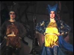 Still frame image from 1986 GSA Fashion Show film footage.