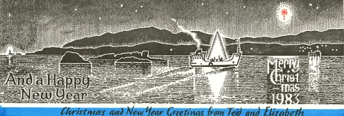 Christmas Card designed by Ted and Elizabeth Odling (DC 029/5/2/3)