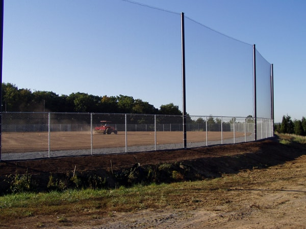 Galvanized Chain Link Fence with Netting
