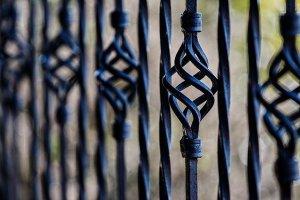 wrought iron and aluminum fences