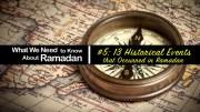 Ramadan Historical Events - GSalam.Net