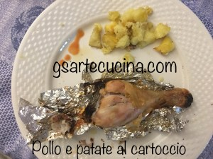 Cosce di pollo e Patate al cartoccio - Chicken thighs and potatoes into a cartoccio