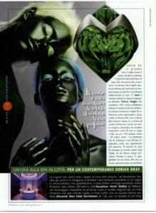 AURA THIERRY MUGLER articolo dedicato dalla rivista GLAMOUR