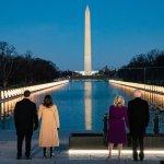 Commemorazione vittime covid-19 Biden