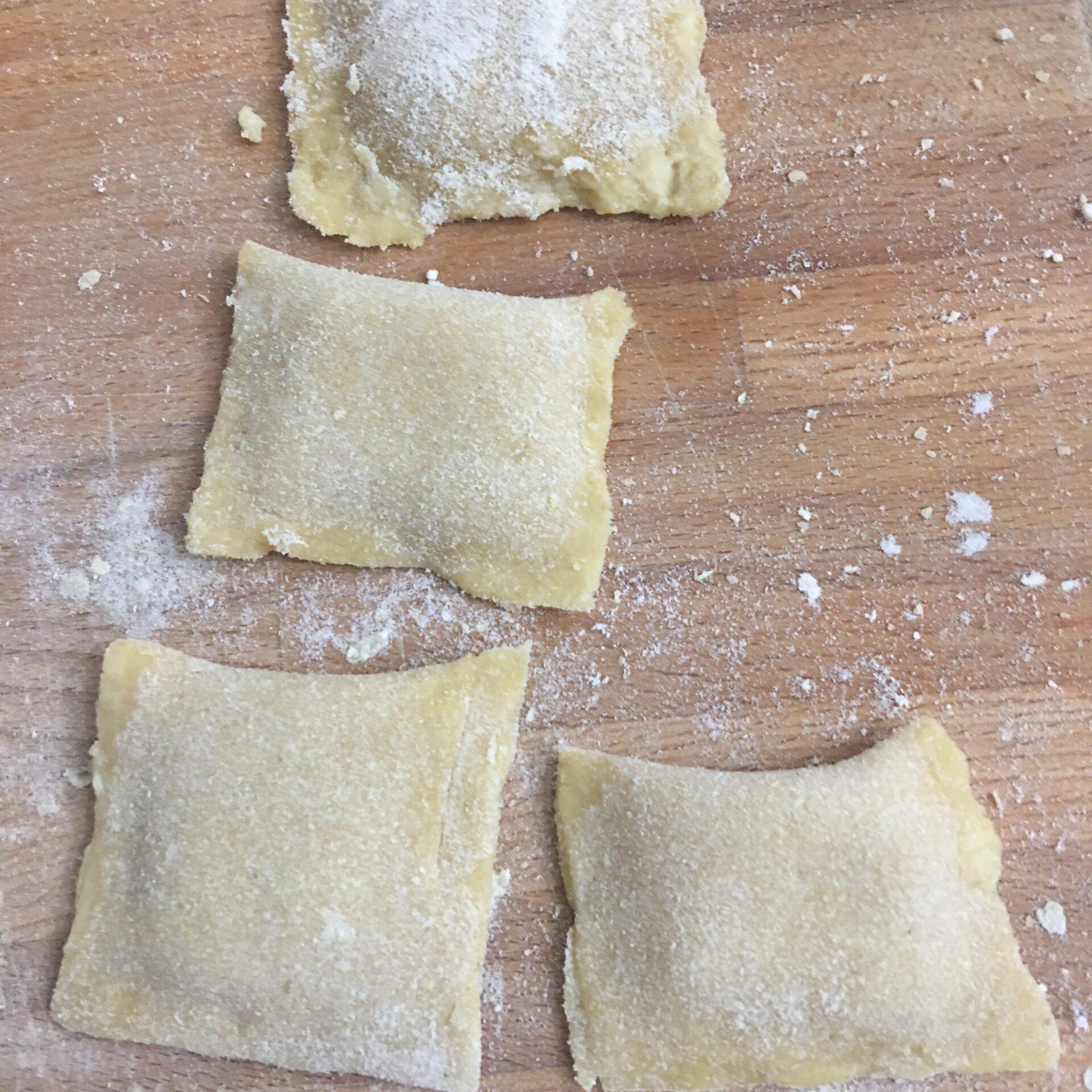 Ravioli Integrali ripieni di zucca e formaggio