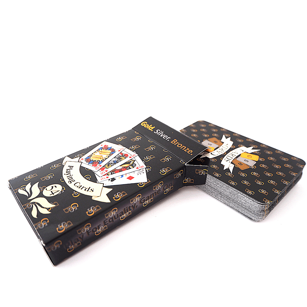 GSB Playing Cards Single Black pack Signature design