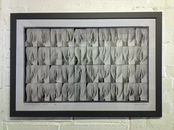 Brighton artist vulvas molding