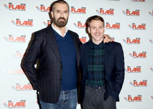 Rupert Everett and Edwin Thomas at UK premiere at BFI FLARE