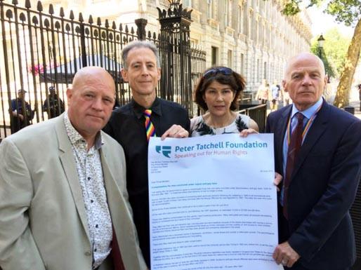 L-R: Stephen Close, Peter Tatchell, Rachel Barnes and Lord Michael Cashman