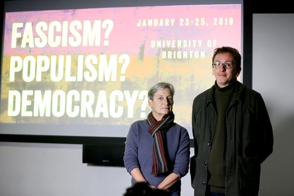 Judith Butler with the University of Brighton's Mark Devenney