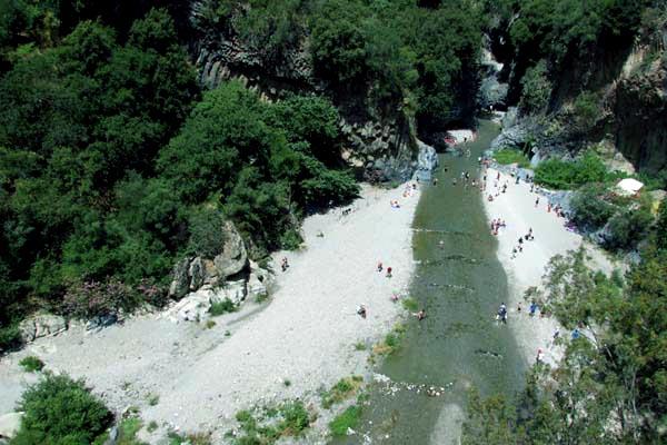 The Alcantara Gorge