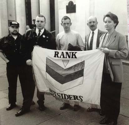 Outside Ministry of Defence in 1994