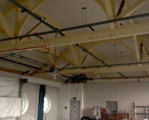 Decorating a university in London