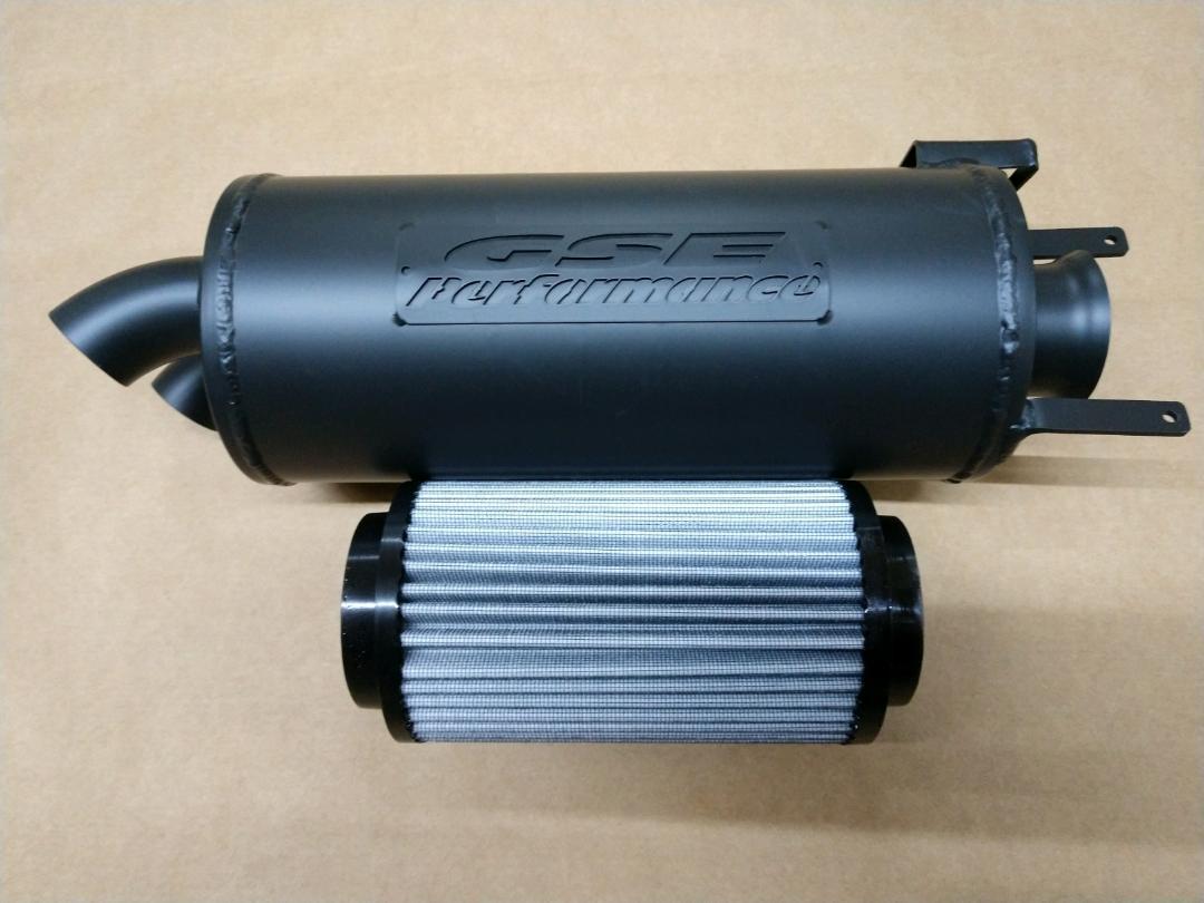 2445 p9614 f polaris sportsman 400 450 500 570 hawkeye 400 trail tamer muffler high flow air filter