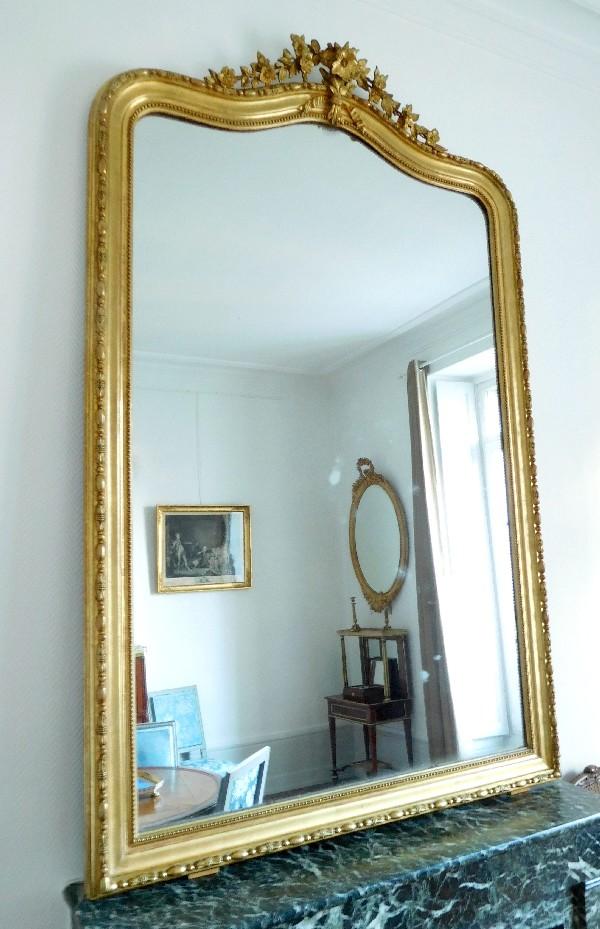 grand miroir cheminee niii glace mercure
