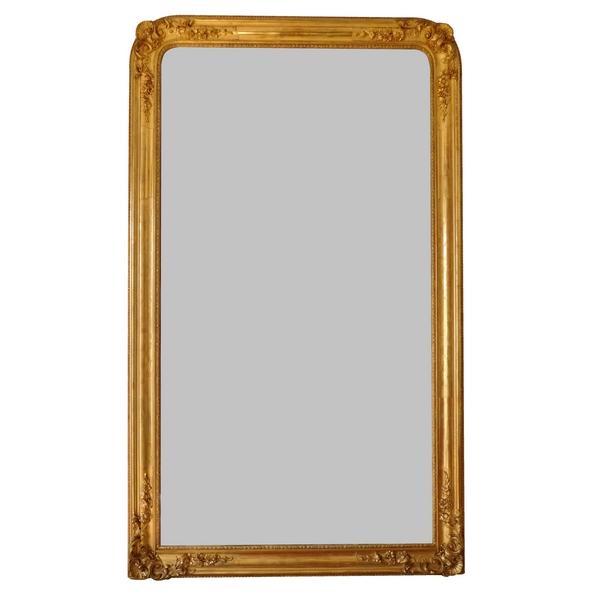 miroir de cheminee niii en bois dore