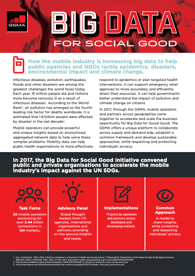 Big Data for Social Good: Overview Flyer image