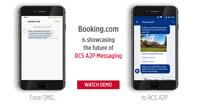 Booking.com is showcasing the future of RCS A2P Messaging