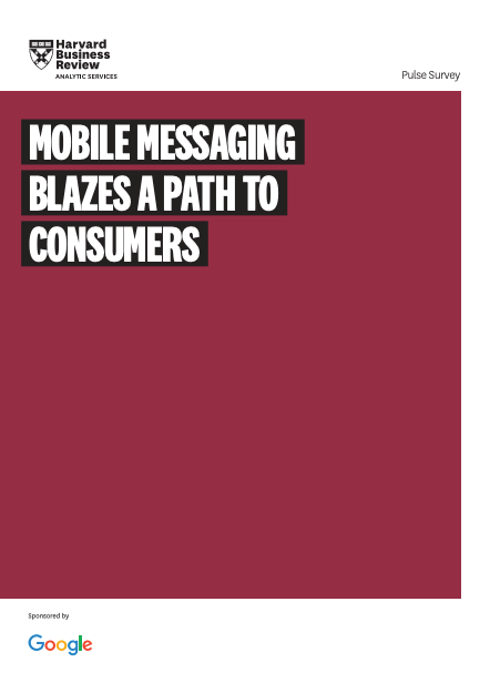 Harvard Business Review Analytic Services report highlights RCS Business Messaging opportunity image