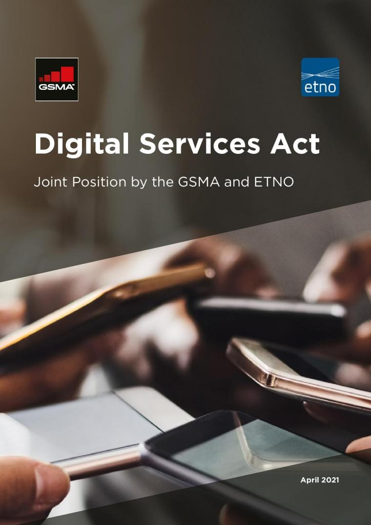 Digital Services Act: Joint Position Paper by the GSMA and ETNO image