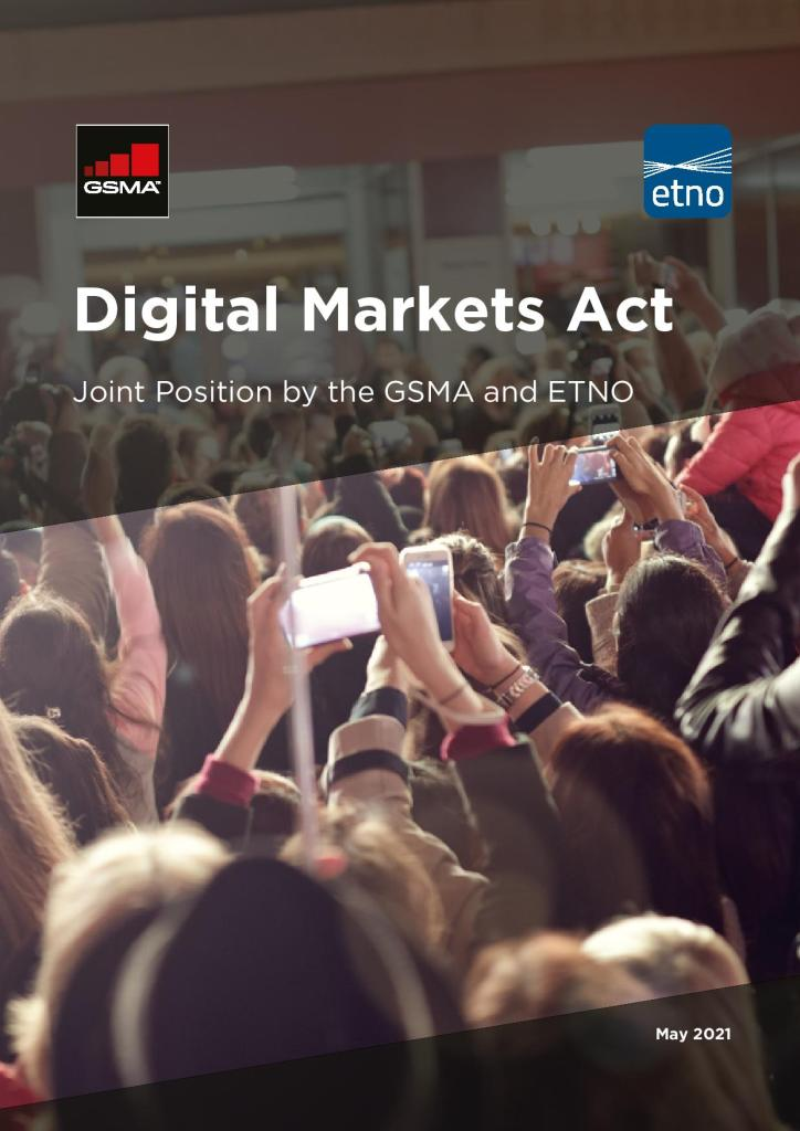 Digital Markets Act: Joint Position Paper by the GSMA and ETNO image