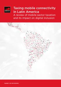 Tributação da conectividade móvel na América Latina image