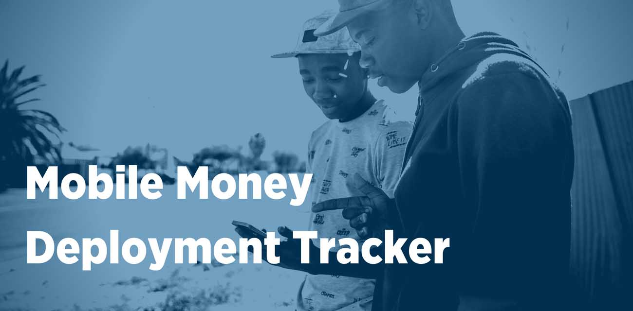 mobile money deployment tracker mobile for development