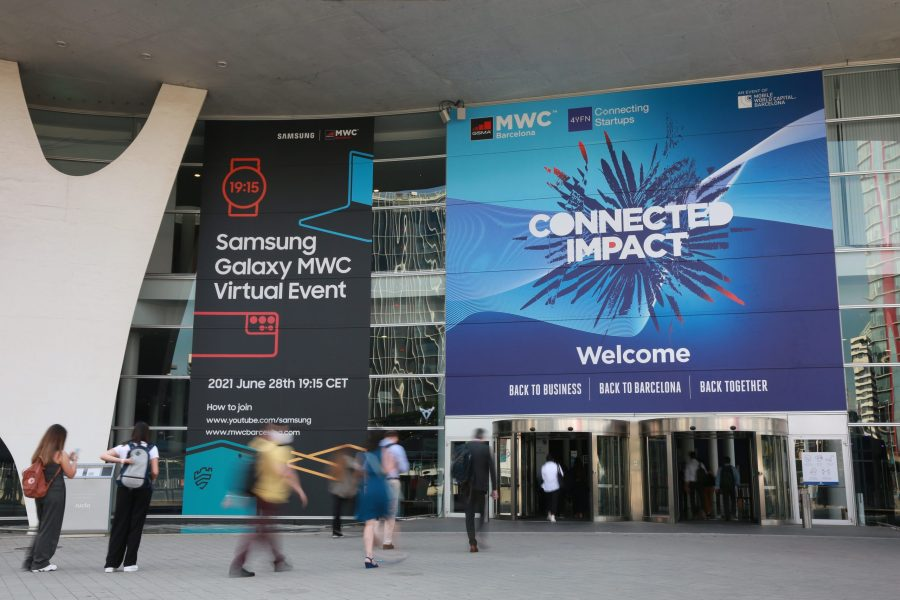 Entrance to MWC 21 in Barcelona