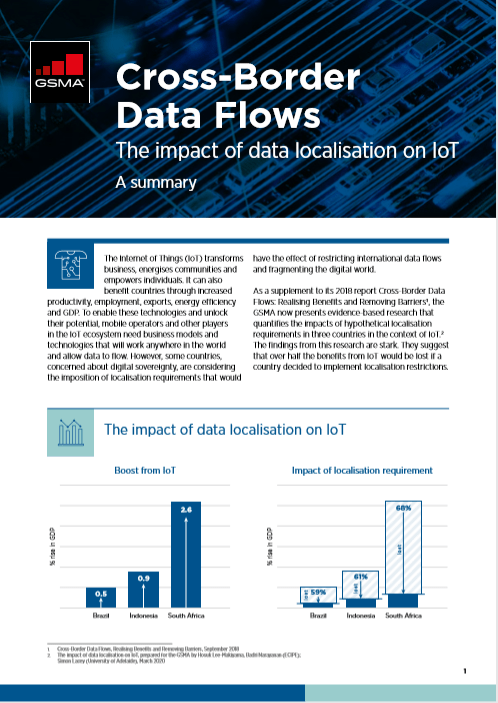 Cross-Border Data Flows: The impact of data localisation on IoT image