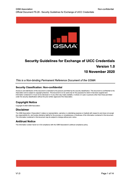 FS.28 Security Guidelines for Exchange of UICC Credentials image