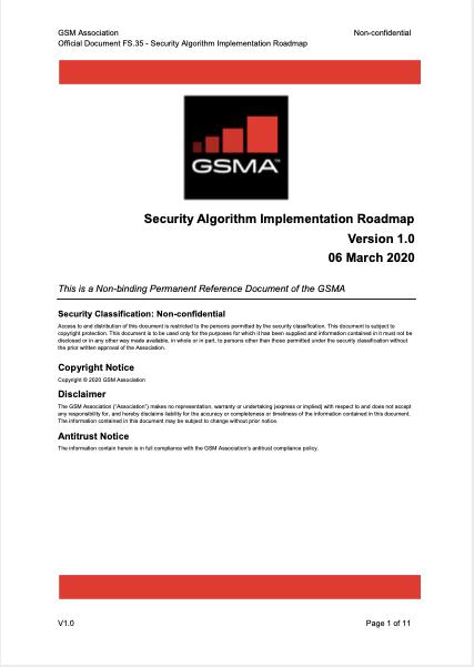 FS.35 Security Algorithm Implementation Roadmap image