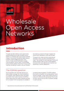 The risks associated with Wholesale Open Access Networks image