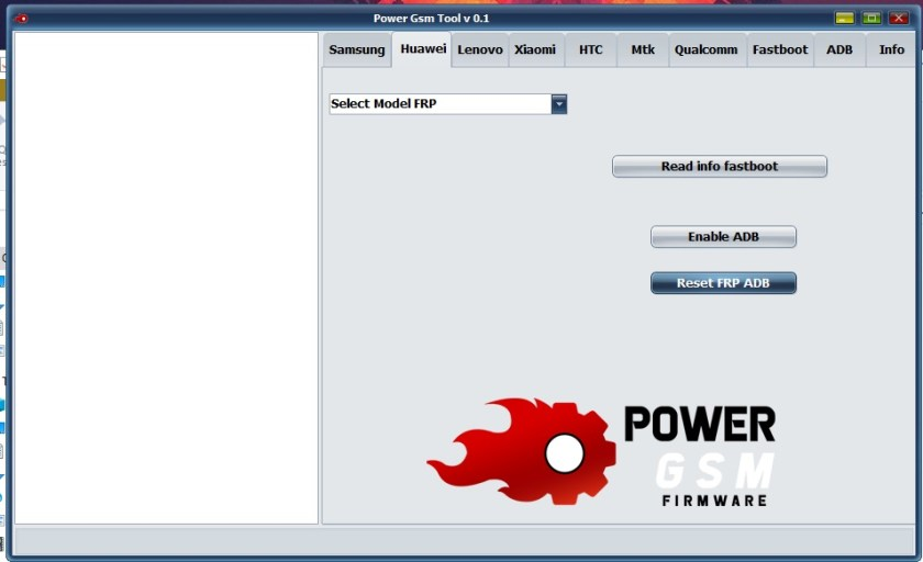 Huawei Options in Power GSM FRP Tool